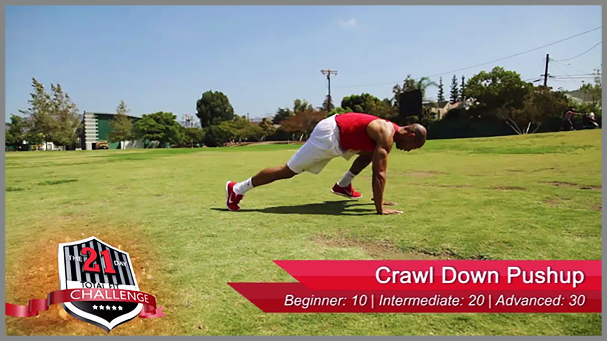 crawl down push-ups w/ travel step